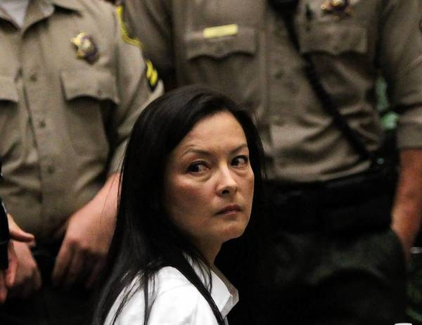 Kelly Soo Park looks at the courtroom audience during the start of her trial on charges of killing model Juliana Redding in Santa Monica five years ago.