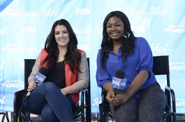 """American Idol"" finalists Kree Harrison, left, and Candice Glover."