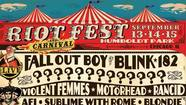 Riot Fest lineup: Fall Out Boy, Blink 182, more