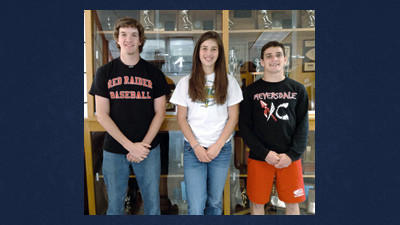 Meyersdale's Steven Haer, Abby Stahl and Collin Day announced their intentions to play collegiate sports Wednesday at the school.
