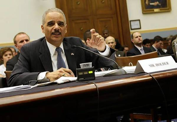 Attorney General Eric Holder testifies before a House Judiciary Committee hearing.