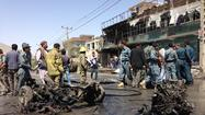 KABUL, Afghanistan -- A powerful suicide car bomb rocked Kabul on Thursday, killing six foreigners and at least six Afghan civilians, according to local officials.