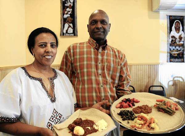 Beleteshachew and Ebisa Mulata, are co-owners of Mariam's Ethiopian Restaurant in Allentown. Doro wot is a veggie combo that contains lentil sauce, cabbage, potato, carrots, beets and collard greens