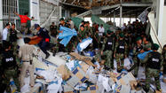 PHNOM PENH (Reuters) - Three people were killed when the ceiling of a warehouse fell in at a shoe factory in Cambodia, a government minister said on Thursday, adding to concern about safety standards at Asian factories producing clothes cheaply for Western consumers.