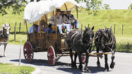 For Sonny Lemon, the annual wagon train ride is more than just an opportunity to trace the famous route that opened Washington County to the west — it's a family tradition that goes back more than 20 years.