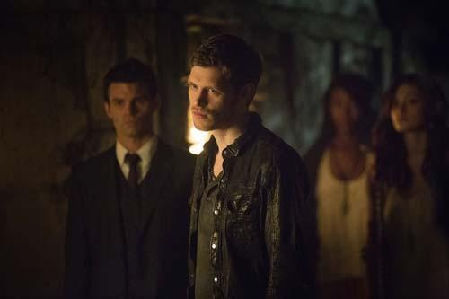 "Daniel Gillies, left, Joseph Morgan and Phoebe Tonkin in ""The Originals."""