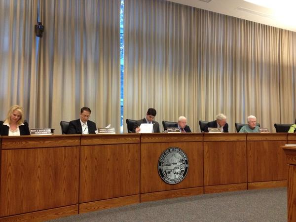 Middletown council Democrats going over majority budget proposal. $3.9 mil to schools - well under $5.3 mil request