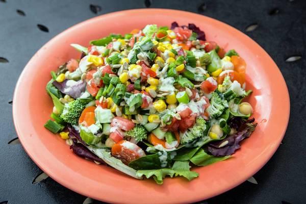 Dandelion Cafe focuses on organic vegetarian cuisine such as the Abundant Harvest salad.
