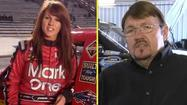 A NASCAR driver was arrested on charges of stealing another driver's hauler, but he says he's innocent. Driver Mike Harmon was charged with taking the transporter of NASCAR Nationwide and Truck Series racer Jennifer Jo Cobb.