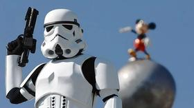 Getting into stormtrooper gear at Disney's Star Wars Weekends