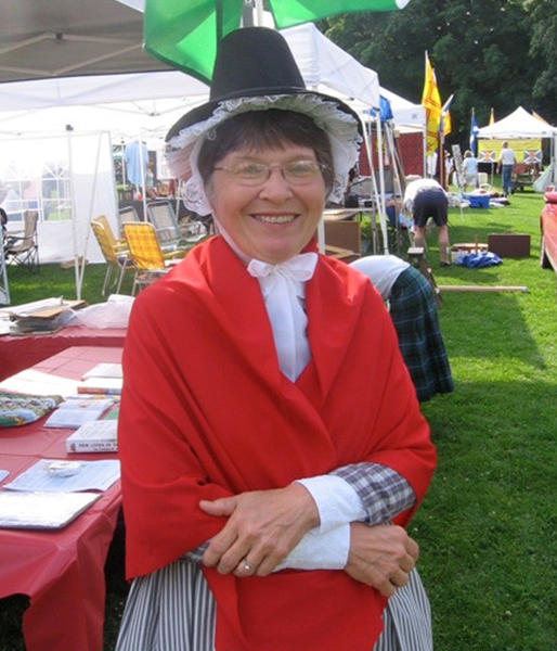 WSWNE member Beth Roberts Brown in the traditional Welsh costume.
