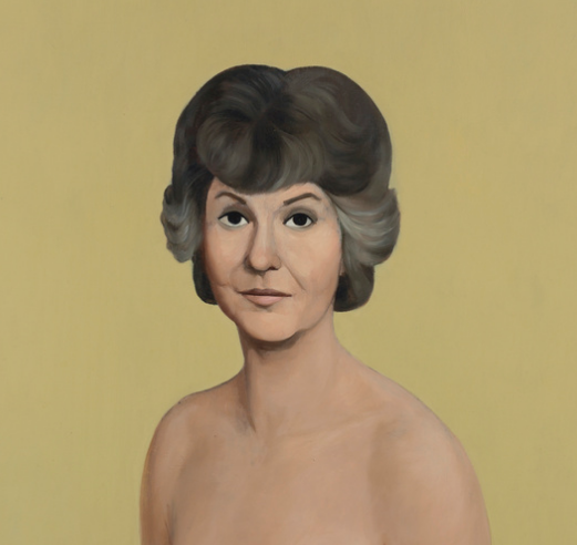 "Detail of ""Bea Arthur Naked"" by John Currin."