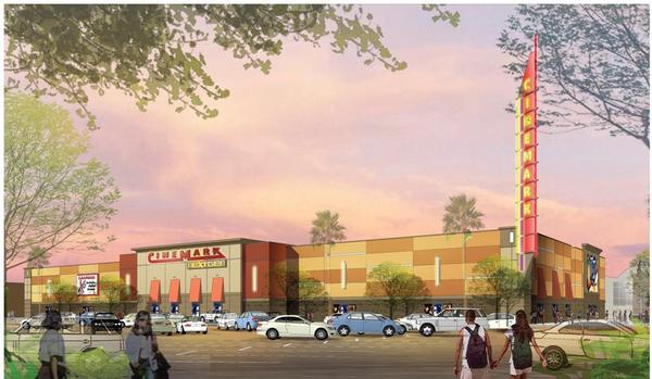 Artist rendering of the new Cinemark theater