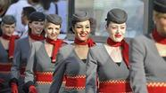 Flight attendants of Etihad Airways