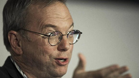 Google Executive Chairman Eric Schmidt at Google's Big Tent event at the W Hotel in Washington, D.C. last month.