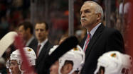 Chicago Blackhawks coach Joel Quenneville denied reports that he benched Viktor Stalberg for Game 1 of the Western Conference semifinals against the Detroit Red Wings because the winger questioned his lack of ice time on the power play.