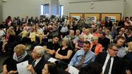 Residents pack a recent Elmhurst City Council