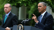 "WASHINGTON--President Obama on Thursday ruled out any unilateral U.S action in response to the alleged Syrian use of chemical weapons, further reducing the chance of any forceful response to the crossing of what Obama had described as a ""red line."""