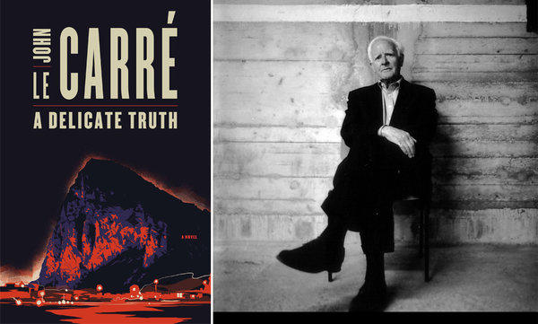 "The cover of ""A Delicate Truth"" and author John Le Carré."