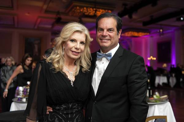 Princess Yasmin Aga Khan and Blaise Labriola pose for a photo during the Alzheimer's Association Rita Hayworth Gala at Hilton Hotel in Chicago on May 11.