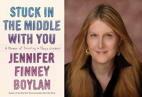 "The cover of ""Stuck in the Middle With You"" and author Jennifer Finney Boylan."