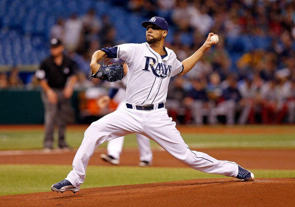 Pitcher David Price #14 of the Tampa Bay Rays pitches against the Boston Red Sox during the game at Tropicana Field on May 15, 2013 in St. Petersburg, Florida.