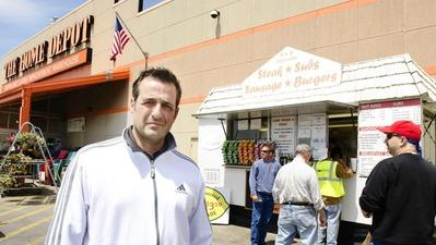 Home Depot tells hot dog stands to relocate