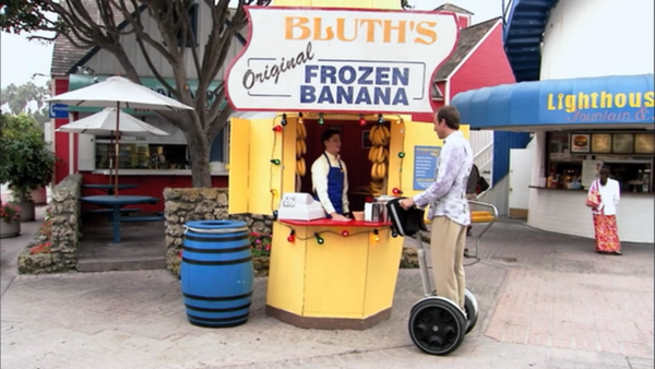"An image from the episode ""Charity Drive"" from Arrested Development shows the Bluths' family banana stand set in Newport Beach."