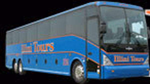 A screen grab of an Illini Tours bus from the company's web site.