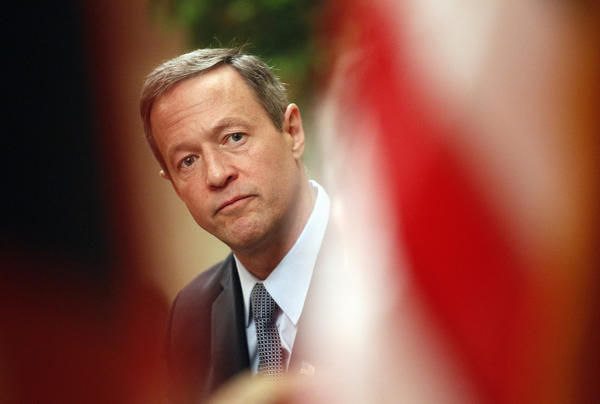 Maryland Gov. Martin O'Malley on the opening day of the 2012 legislative session.