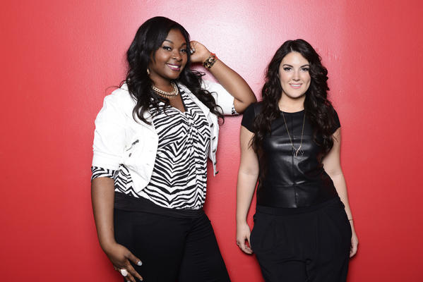 """American Idol"" is down to two female singers: Candice Glover, left, and Kree Harrison."