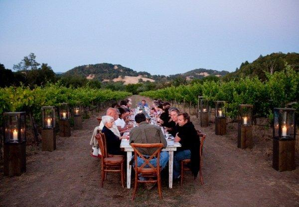 Want dinner in a vineyard? Try the Chef's Summer Dinner Series at Seghesio Family Vineyards.