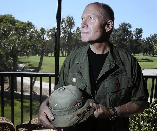Vietnam veteran George Wanberg is pictured at his home in Howey-in-the-Hills on Tuesday, May 14, 2013.