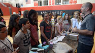 Easton Middle School health fair