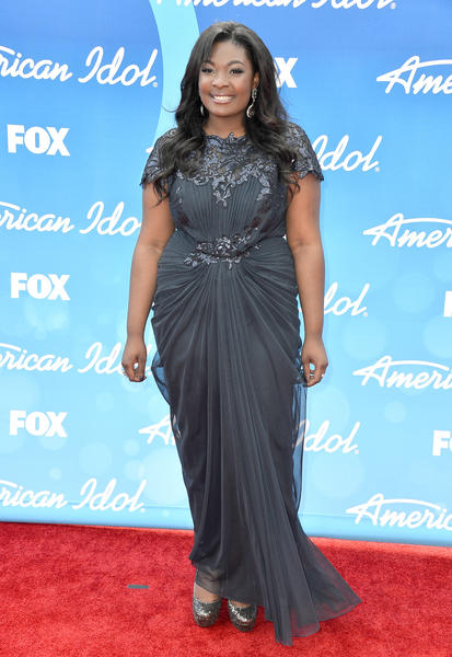 """Singer Candice Glover attends Fox's """"American Idol 2013"""" Finale - Results Show at Nokia Theatre L.A. Live on May 16, 2013 in Los Angeles, California. (Photo by Frazer Harrison/Getty Images)"""