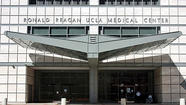 The front entrance of the Ronald Reagan UCLA Medical Center is shown