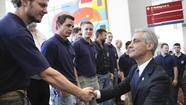 Beginning the second half of his term this week, Mayor Rahm Emanuel moved to shift the civic conversation away from questions of crime and school closings toward a roster of publicly funded tourism projects, including a DePaul basketball arena at McCormick Place, that he says can propel Chicago's stature as a business and leisure destination.
