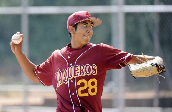 ARCHIVE PHOTO: Glendale Commmunity College's Angel Rodriguez was named the Western State Conference South Division Pitcher of the Year. It's the third year in a row a Vaquero has taken that honor.