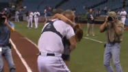 Soldier surprises daughter during Tampa Bay Rays first pitch