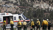 <span>More than 1,400 firefighters were on the lines Friday, battling a brush fire that's burned through more than 3,800 acres in Ventura and Kern counties since Wednesday.</span>