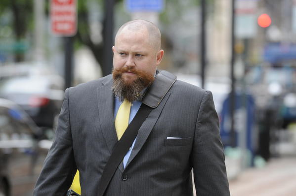 Robert Braddock Jr., the former finance director of House Speaker Christopher Donovan's congressional campaign outside New Haven Federal Court May 17th. Braddock went on trial in May facing charges of conspiring to conceal the source of campaign contributions.