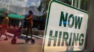 "<span style=""font-size: small;"">South Florida's unemployment continued its decline in April, dropping to 5.6 percent in Broward and 6.8 percent in Palm Beach County, the state said Friday.</span>"