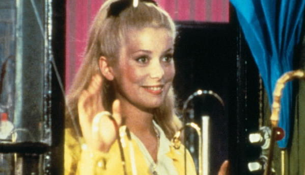"Catherine Deneuve in a scene from ""Umbrellas of Cherbourg."""