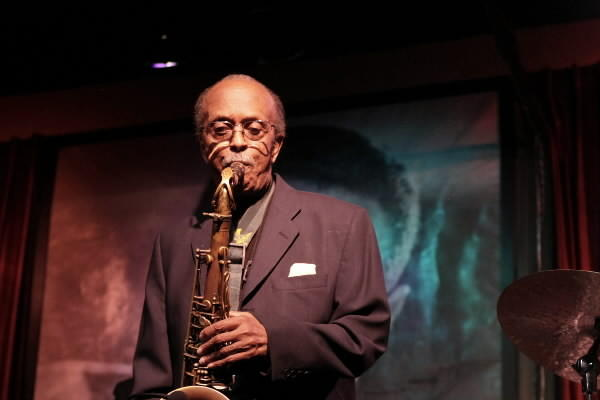 "Jimmy Heath plays the Jazz Showcase with his brother, Albert ""Tootie"" Heath, in 2010."
