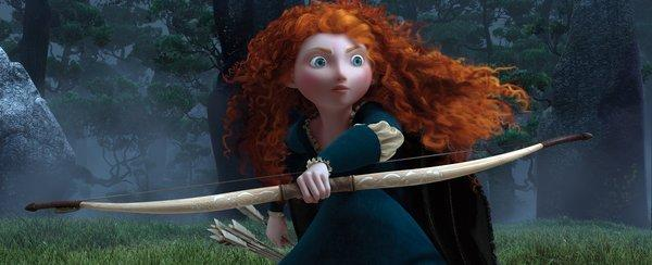"Merida in a scene from the movie ""Brave."""