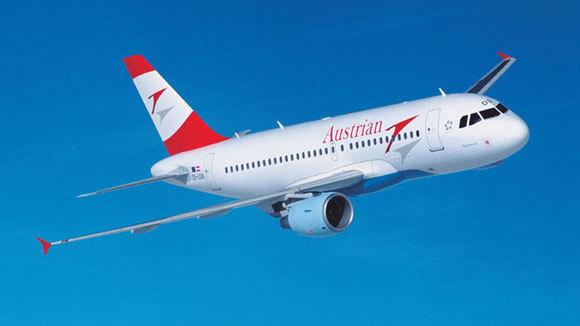 An Austrian Airlines A319.
