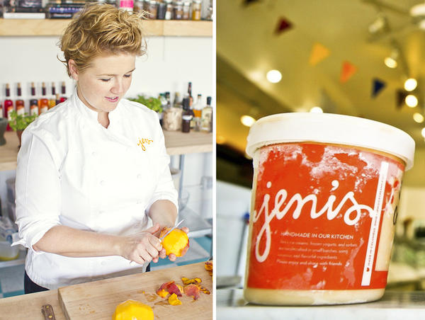 Jeni's Splendid Ice Cream founder Jeni Britton Bauer and a pint of her hand-made ice cream