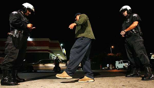 In this file photo, Glendale police conduct a field sobriety test.