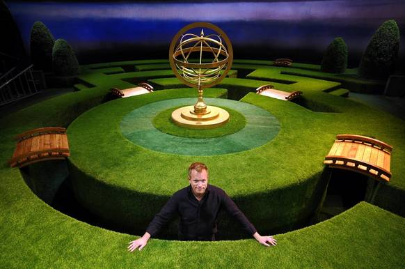 Set designer Alexander Dodge stands in the maze that is the setting for the Hartford Stage production of 'Twelfth Night.'