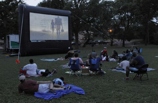 "Movies in the Park, showing "" The Blind Side"" offered by the Chicago Park District at Amundsen Park, at 6200 W. Bloomingdale Ave., in Chicago."